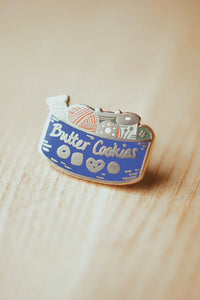 Butter Cookie Sewing Kit Enamel Pin - Justine Gilbuena - Enamel Pin - Justine Gilbuena - Sew Me Sunshine