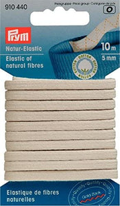 Natural Fibre Elastic 5mm x 10m - Prym