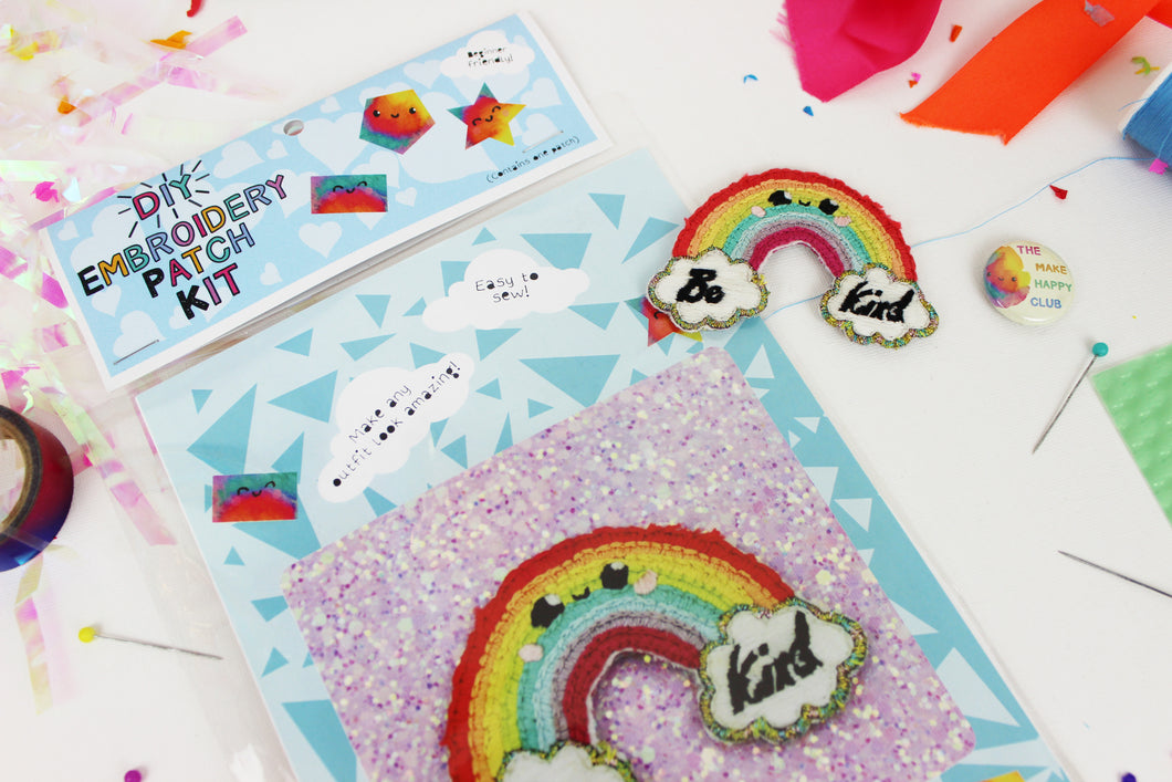 Ellbie Co. Rainbow Embroidery Patch Kit - Sewing Kits - Ellbie Co. - Sew Me Sunshine