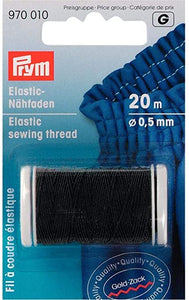 Black Elastic Sewing Thread / Shirring O.5mm X 20m - Prym - Haberdashery & Tools - Prym - Sew Me Sunshine