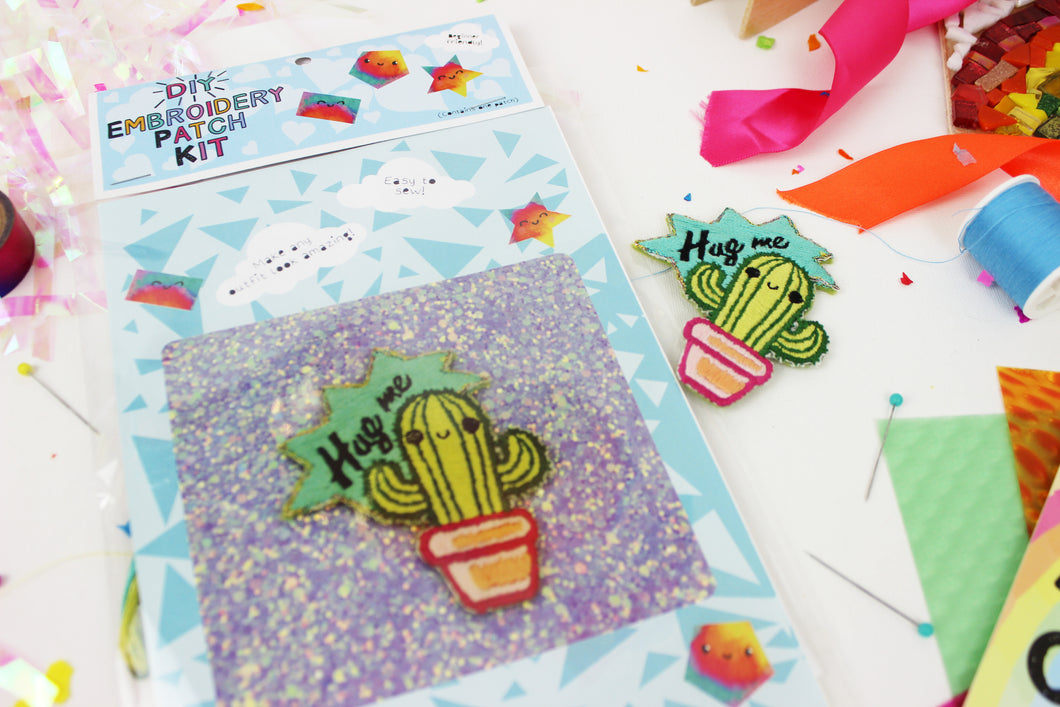 Ellbie Co. Cactus Embroidery Patch Kit - Sewing Kits - Ellbie Co. - Sew Me Sunshine