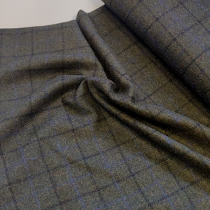 Green Check - Abraham Moon Wool Coating - Ex Designer