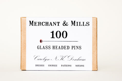 Glass Headed Pins- Merchant and Mills - Haberdashery & Tools - Sew Me Sunshine - Sew Me Sunshine