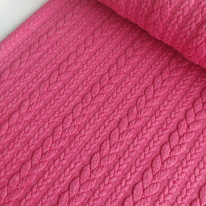 Pink - Cable Knit Jersey - Fabric - Sew Me Sunshine - Sew Me Sunshine