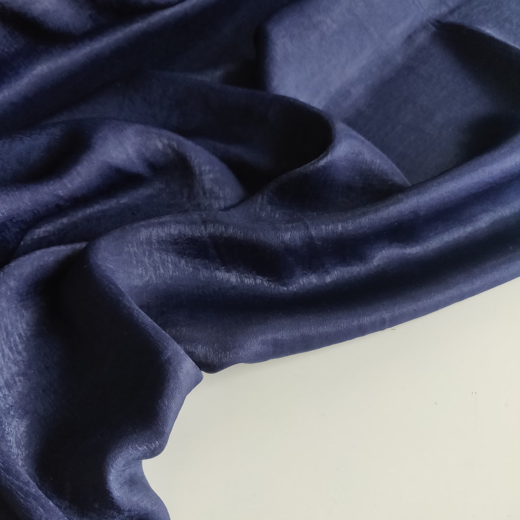 Navy - Sandwashed Satin - Fabric - Sew Me Sunshine - Sew Me Sunshine