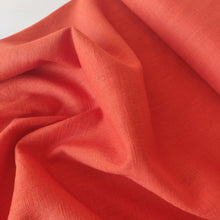 Flame Orange - Enzyme Washed Linen - Fabric - Sew Me Sunshine - Sew Me Sunshine