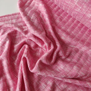 Raspberry Ripple - Soft Ribbed Knit - Fabric - Sew Me Sunshine - Sew Me Sunshine