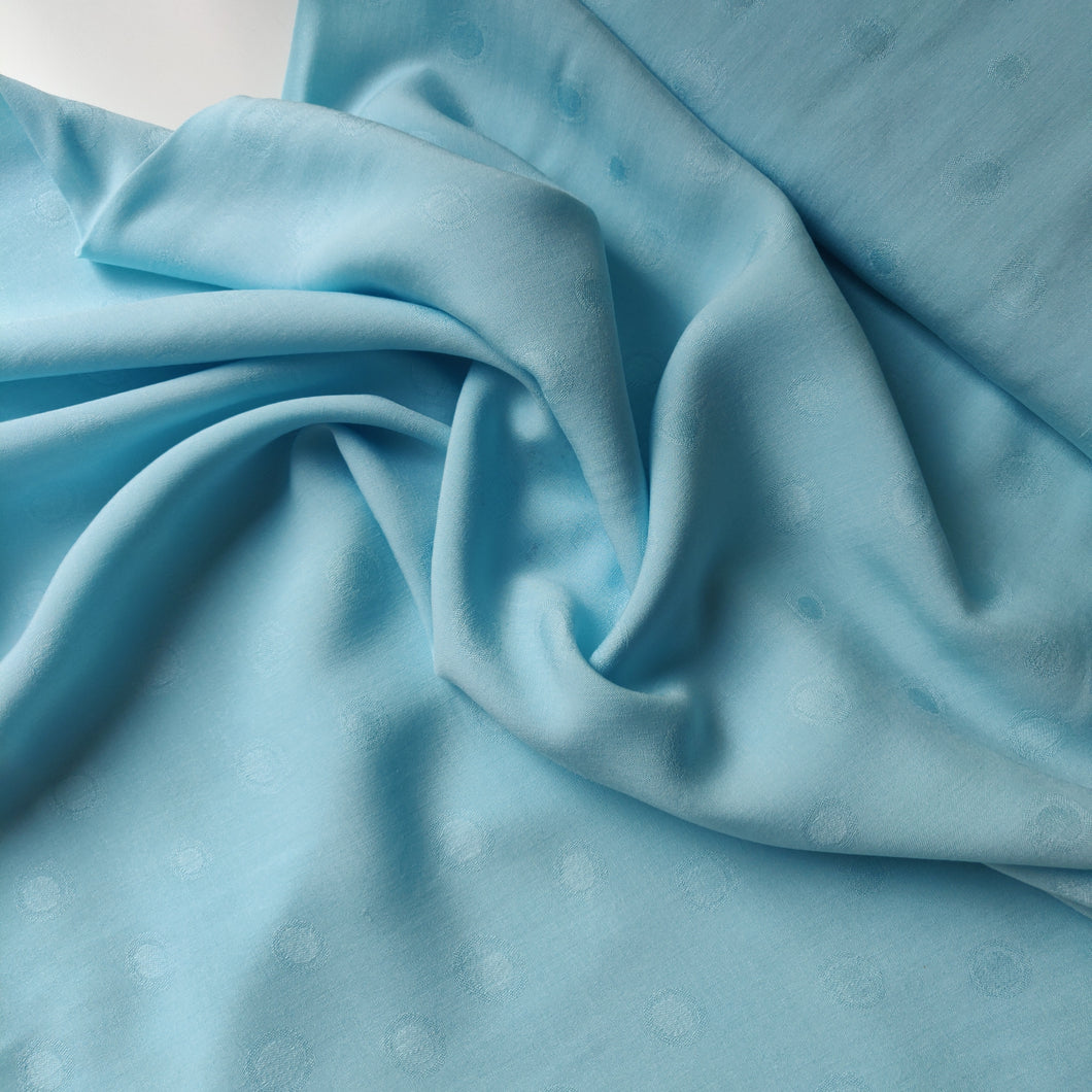 Sky Blue Dotty - Viscose Jacquard - Fabric - Sew Me Sunshine - Sew Me Sunshine