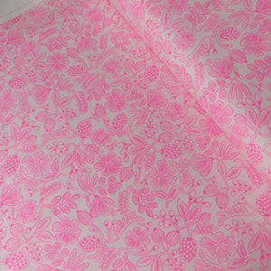Moxie Floral Neon Pink - Cotton - Rifle Paper Co.