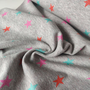 Star Gazer Pink, Green & Red - Jacquard Jersey