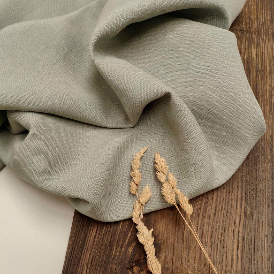 Light Sage - Slub Linen Blend with TENCEL™ fibres