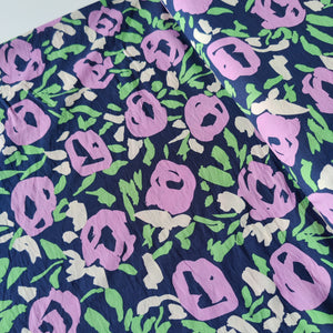 Purple Rose Garden - Cotton Blend - Pigeon Wishes