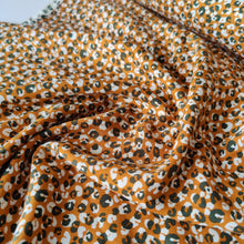 Mustard Leopard - Sanded Viscose Twill - Pigeon Wishes