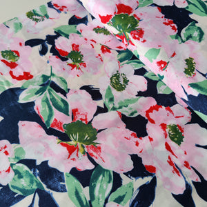 Floral Painting - Viscose - Pigeon Wishes