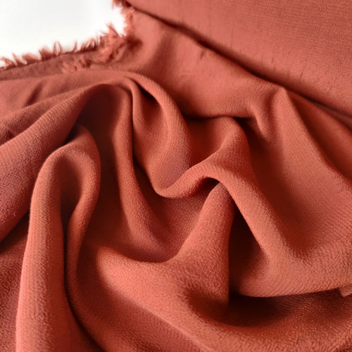 Rust Orange - Viscose Crepe
