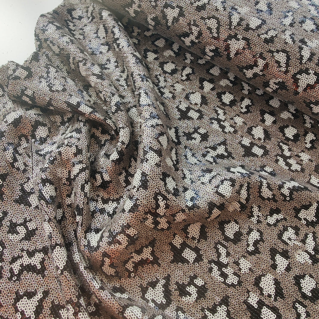 Leopard - Sequins On Mesh
