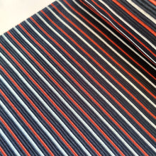 Orange & Blue Stripe - Ribbed Jersey