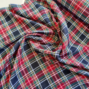 Green, Red & Navy Check - Brushed Cotton