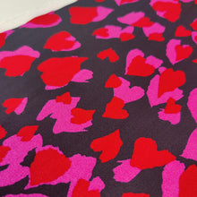 RESERVED FOR CLAIRE Love Hearts - Viscose Crepe - Ex Designer Deadstock - END OF BOLT 115cm