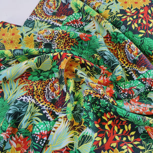 Leopard in the Jungle - Lyocell Twill