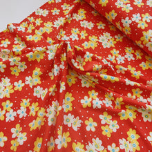 Red Flower Polka Dots - Viscose Jersey