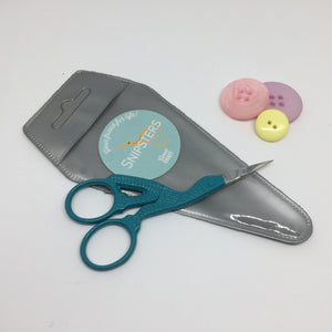 Snipsters Stork Embroidery Scissors- Teal - Haberdashery & Tools - Sew Me Sunshine - Sew Me Sunshine