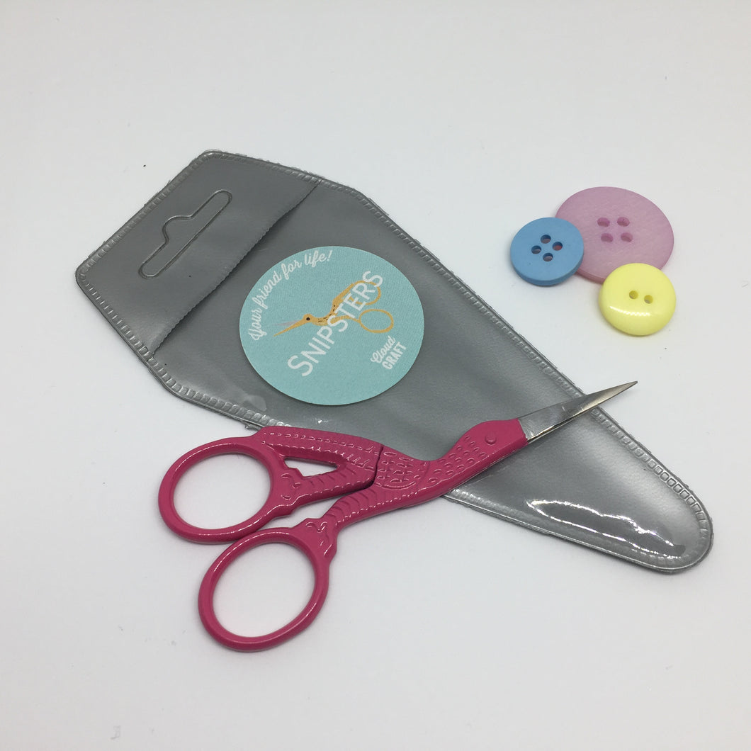 Snipsters Stork Embroidery Scissors- Pink - Haberdashery & Tools - Sew Me Sunshine - Sew Me Sunshine