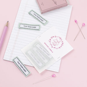 This Took Ages - Pack of 6 Clothing Labels - Pink Coat Club