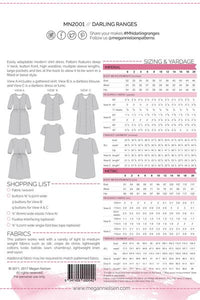 Darling Ranges Dress/Top Size 0-20 - Megan Nielsen