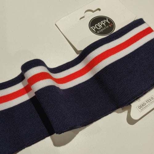 Navy & Red - Jersey Cuff - Haberdashery & Tools - Albstoffe - Sew Me Sunshine