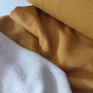 Mustard Glitter - Fleece Backed Jersey - Fabric - Sew Me Sunshine - Sew Me Sunshine