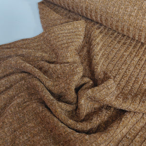 Cinnamon Melange - Ribbed Knit - Fabric - Sew Me Sunshine - Sew Me Sunshine