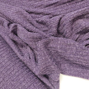 Purple Melange - Ribbed Knit