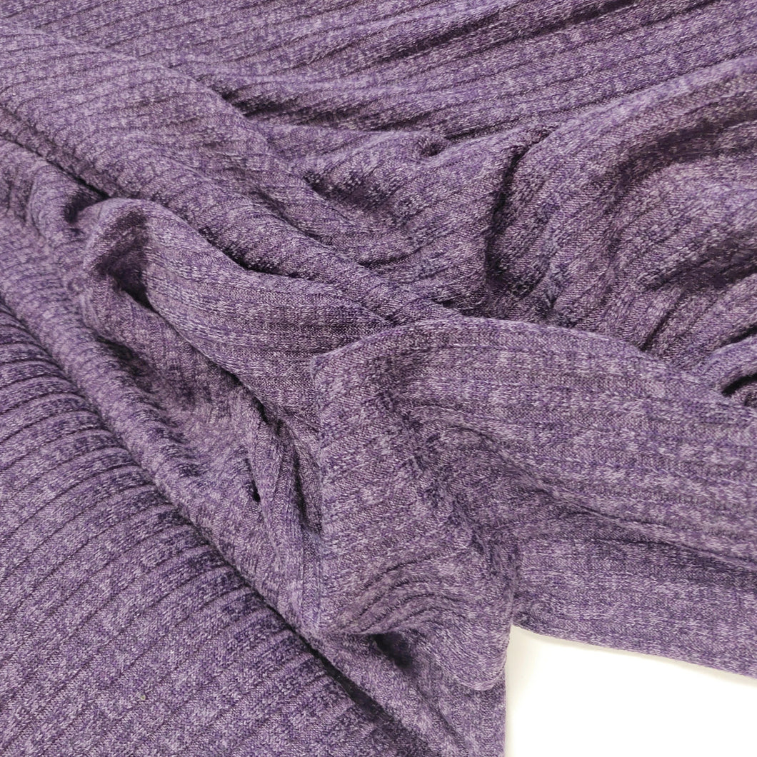 Purple Melange - Ribbed Knit - Fabric - Sew Me Sunshine - Sew Me Sunshine