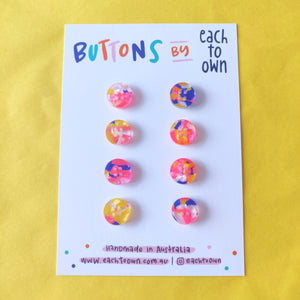 8 x 15mm Buttons Candy Tortie - Each To Own - Haberdashery & Tools - Each To Own - Sew Me Sunshine