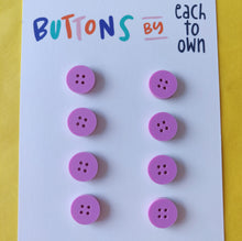 8 x 15mm Buttons Matt Lilac - Each To Own - Haberdashery & Tools - Each To Own - Sew Me Sunshine