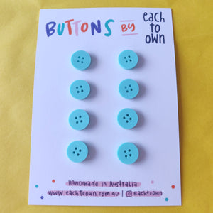 8 x 15mm Buttons Matt Mint - Each To Own - Haberdashery & Tools - Each To Own - Sew Me Sunshine