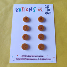 8 x 15mm Buttons Matt Mustard - Each To Own - Haberdashery & Tools - Each To Own - Sew Me Sunshine