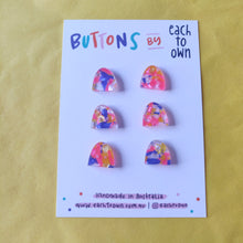 6 x 17mm Little Hill Buttons Candy Tortie - Each To Own - Haberdashery & Tools - Each To Own - Sew Me Sunshine