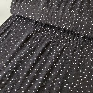 White On Black Polka Dot - Viscose Crepe - Fabric - Sew Me Sunshine - Sew Me Sunshine