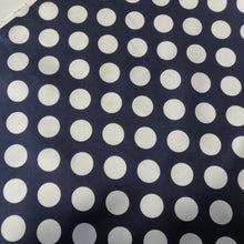 Navy Polka Dot  - Stretch Cotton Sateen - Fabric - Sew Me Sunshine - Sew Me Sunshine