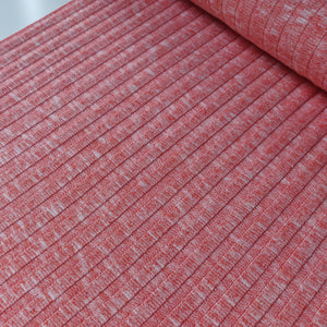 Sunrise Coral - Soft Ribbed Knit - Fabric - Sew Me Sunshine - Sew Me Sunshine