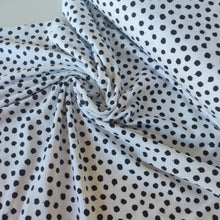 Black Dots On White - Organic Cotton Jersey