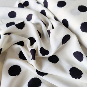 Polka Dot Sketch - Viscose Twill - Pigeon Wishes