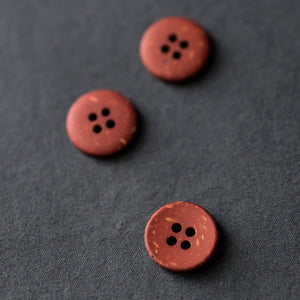 Brick Speckles 18mm Button - Merchant and Mills - Haberdashery & Tools - Merchant and Mills - Sew Me Sunshine