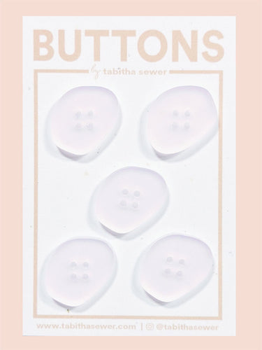 Rose Quartz Oblong Buttons 21mm (.81