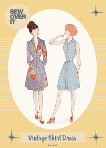 Vintage Shirt Dress- Sew Over It - Patterns - Sew Over It - Sew Me Sunshine