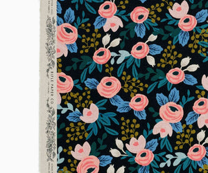 Rosa Garden Party - Cotton Linen Canvas - Rifle Paper Co.