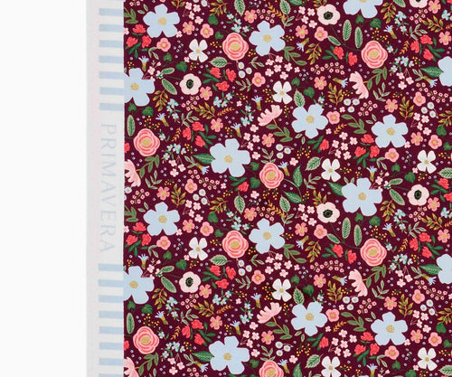 Wild Rose Burgundy Metallic Garden Party - Cotton - Rifle Paper Co.