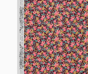 Rosa Burgundy Metallic Garden Party - Cotton - Rifle Paper Co.